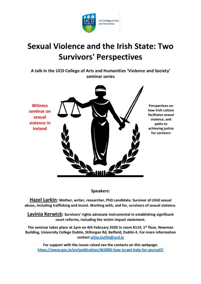 Violence and Society seminar poster2